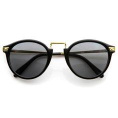Vintage Inspired Round Wayfarer Frame Sunglasses 8591 from zeroUV