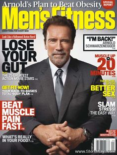 Arnold Schwarzenegger - Men's Fitness Magazine Cover [United States] (September 2012)