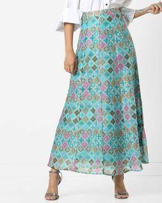 225309d60 Buy AJIO Women Multicoloured Panelled Maxi Skirt with Tie-Up | AJIO