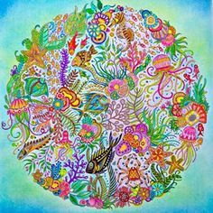 Artist Pinksecretbr Escaped The Stress Of Everyday Life With New Colouring Book Lost Ocean By Johanna Basford Dive Also In Inky Adventure