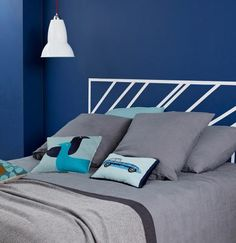 To visualise your decorating ideas, just choose a room and see the colour's brought to life. Find inspiration with Dulux. Blue Bedroom Paint, Bedroom Colours, Master Bedroom, Exterior Paint Colors, Paint Colours, Ikea Kitchens, Dulux Paint, Oxford Blue, Nautical Bathrooms