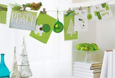 Holiday Card Displays // Live Simply by Annie
