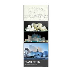 Created by the LACMA Store, the Frank Gehry Poster celebrates the Frank Gehry exhibition at LACMA. 12 x 36 in.
