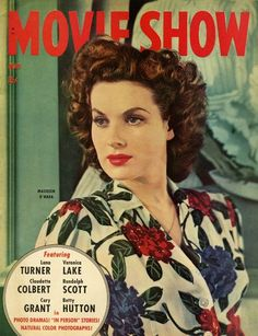 "Maureen O'Hara on the cover of ""Movie Show"" magazine, USA, May 1943."