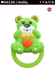 Detská hrkálka so zvukom Baby Mix Medvedík zelená Luigi, Yoshi, Baby, Fictional Characters, Babys, Infant, Babies, Infants, Kid