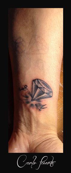 old school tattoo #diamond tattoo #traditional  tattoo #