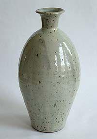 A large glazed stoneware bottle by Bernard Leach