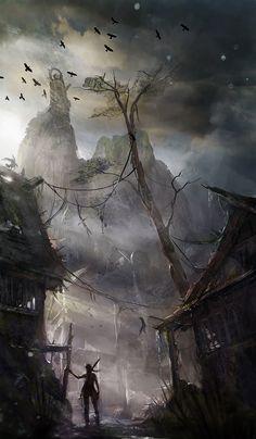 Tomb Raider - Night Exploration concept art