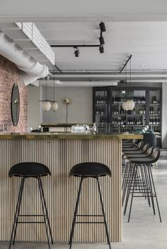 Maannos: A Cool Restaurant and Bar in Helsinki by Laura Seppänen - Nordic Design Cool Restaurant, Restaurant Concept, Restaurant Design, Bar Table Design, Kitchen Bar Design, Kitchen Bars, Helsinki, Scandinavian Restaurant, Nature Color Palette