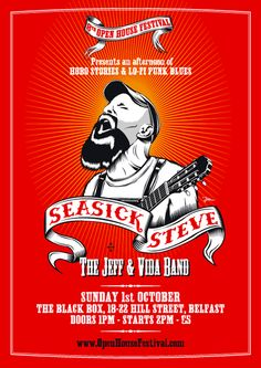 Gig posters, flyers and handbills from around the world! Tour Posters, Band Posters, Music Posters, Seasick Steve, Music Flyer, Soul Surfer, Music Artwork, Rock Concert, Film Music Books