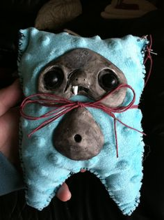 Handmade fabric and clay creatures. Theses little guys have many personalities. More coming soon. Also made to order.