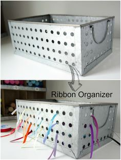 Craftaholics Anonymous® | DIY idea to organize your ribbons.