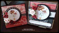 Un ensemble carte et sa Boitatou créé par Sarah Dufresne, DT Boitatou. Scrapbooking, Phone, Cards, Diy, Bricolage, Telephone, Scrapbooks, Map, Handyman Projects