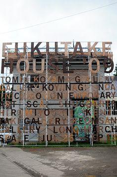 The signage and information graphics for Fukutake House Shop Interior Design, Retail Design, Store Design, Retail Facade, Retail Signage, Environmental Graphics, Environmental Design, Building Facade, Building Design