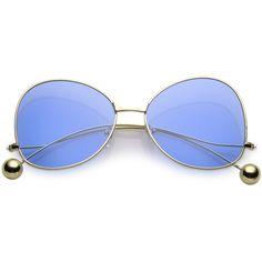 Women's Retro Oversize Butterfly Shape Pantone Lens Sunglasses C443