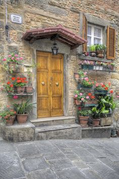 Tuscany - I just love how every house has a bunch of plants in the front.