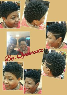 "Short Natural ""sassy & jazzy"" By: Queencutz tapered twa Natural Short Cuts, Short Natural Haircuts, Tapered Natural Hair, Short Hair Cuts, Tapered Twa, Natural Hair Twa, Twa Haircuts, Twa Hairstyles, Black Girls Hairstyles"