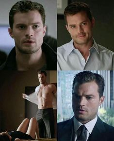 Christian Grey from the Fifty Shades movie series, the one where he smiles is kind of cute. Christian Grey, Jamie Dornan, Fifty Shades Series, Fifty Shades Movie, Fifty Shades Darker, Fifty Shades Of Grey, Mr. Grey, Dakota Johnson Movies, Hommes Sexy