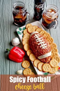 This football shaped cheese ball is the perfect appetizer for the Super Bowl or any game day gathering. It is spicy and flavorful and very easy to make. #SuperBowl #cheeseball #appetizer Appetizers For Party, Appetizer Recipes, Party Recipes, Crockpot Recipes, Cooking Recipes, Cookbook Recipes, Delicious Recipes, Cheese Ball Recipes, My Best Recipe