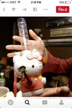Glass Pipes And Bongs, Glass Bongs, Cool Pipes, Cool Bongs, Puff And Pass, Cat Character, Sanrio Hello Kitty, Smoking Weed, Weird