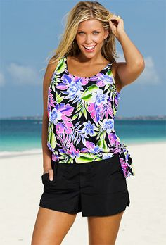 0e1ac8b41d Beach Belle Brisbane Plus Size Blouson Cargo Shortini Plus Size Beach,  Maternity Swimwear, Swimsuits