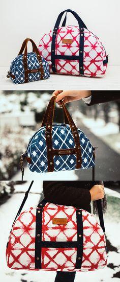 Carla Boston Bag PDF Pattern - ithinksew.com #ithinksew