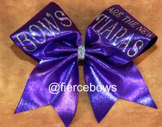 Bows Are the New Tiaras Cheer Bow by MyFierceBows on Etsy, $13.50
