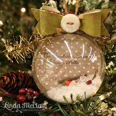 The Heart of a Snowman Always Melts - ornament tutorial