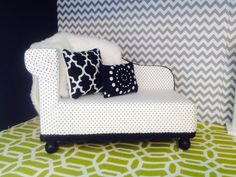 Hey, I found this really awesome Etsy listing at https://www.etsy.com/listing/160255889/polka-dot-chaise-lounge-for-dolls