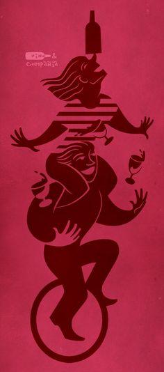 Mostaza Design | Vino & Compañía | Madrid | Wine Shop | Characters by David de Ramón | #retaildesign #mostazadesign #wine #shop #vinoycompañia #interiordesign #interiors #retail #illustration #branding