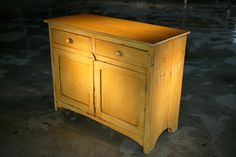 2 door barn wood server in rustic marigold color
