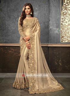 Items similar to Shimmer Silk Sarees Embroidered available in 5 Colours on Etsy Fancy Sarees Party Wear, Saree Designs Party Wear, Saree Blouse Designs, Wedding Sarees Online, Saree Wedding, Bridal Sarees, Wedding Dresses, Trendy Sarees, Stylish Sarees
