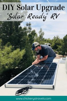 Our solar ready RV only came with a single 80 watt panel and no inverter. Our upgrade included 680 watts of solar, lithium b. Rv Solar Panels, Portable Solar Panels, Rv Camping, Camping Hacks, Camping Ideas, Glamping, Camping Supplies, Camping Kitchen, Camping Cooking