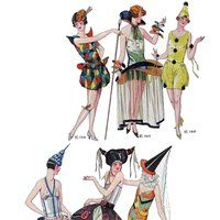 1929 French Costumes photo 1929_23_Masquerade_zpsgt0prxpr.jpg  sc 1 st  Pinterest & Pin by Designval on Victorian to the 1920s Fancy Dress Masquerade ...