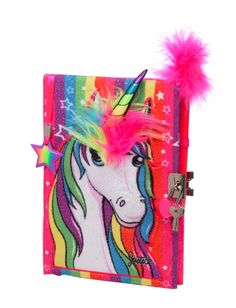 PLUSH UNICORN JOURNAL | GIRLS JOURNALS & WRITING BEAUTY, ROOM & TOYS | SHOP JUSTICE