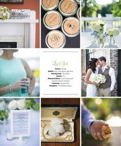 A to Zinnias floral design featured wedding in Savannah Weddings Magazine Photography - Teresa Earnest