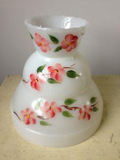 Anchor Hocking Fire KingGay Fad  Peach Blossom Bowls by nddevens, $22.00