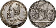 "NumisBids: Numismatica Varesi s.a.s. Auction 65, Lot 874 : CLEMENTE IX (1667-1669) Med. A. II ""La Pace di Aquisgrana"" ..."