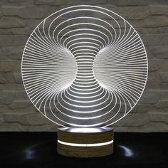 Lampa 3D stołowa Abstract I
