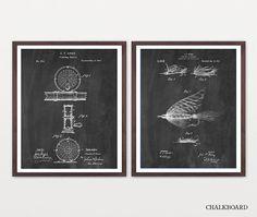 Fishing Patent Wall Art - Fly Fishing Art - Fishing Patent Print - Fly Fishing Patent - Fishing Art - Fishing Inventions - Fishing Reel