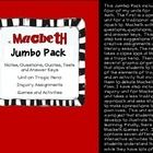 Macbeth+Bundle  This+Jumbo+Pack+includes+four+of+my+units+for+Macbeth.++The+first+is+a+complete+unit+for+a+traditional+approach+to++Macbeth+with+no...