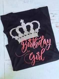 Birthday Girl Crown Tshirt Birthday Tshirt Adult by CWJShoppe