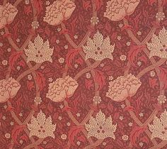 Windrush Wallpaper A William Morris classic red floral design wallpaper