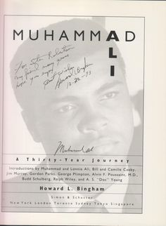 Muhammad Ali: A Thirty Year Journey: Muhammad Ali; Howard L. Bingham