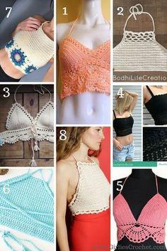 Free crochet pattern: Top 8 Crochet Crop Top