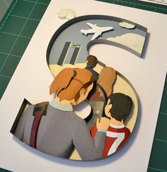 Cut Paper Illustration by all things paper, via Flickr Stephanie Wiehle