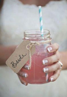 Cocktail Mason jars #wedding #decorations #ideas