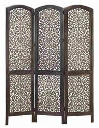 "Masterpiece Wood Room Divider Screen 3 Panel. One of the best room divider screen for your home. Magnificiently hand made by reputable artisans. This screen is done in wood with hand carving. 3 panel room divider is 72"" high and 54"" wide. Great add on for any room decor."