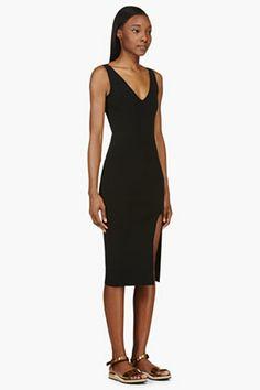 ALTUZARRA Black Knit Viscose Haruki stretch Dress