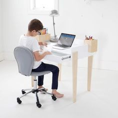 This contemporary Soho Desk & Chair Set is great value. This study package set includes 1 x Soho Study Desk & 1 x Parker Desk Chair. Available is seven great colours, the cushioned parker desk chair is very comfortable & the height adjustable seat will Desk And Chair Set, Desk Chair, Storage Drawers, Storage Boxes, Girl Desk, Storing Books, Chair Height, Study Desk, Bar Chairs